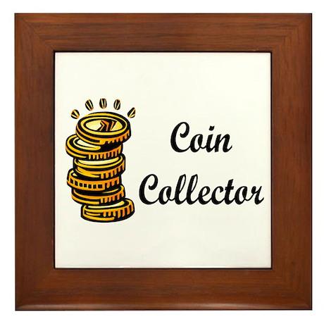 Coin Collector Framed Tile