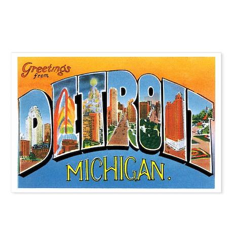 Detroit Michigan MI Postcards (Package of 8)