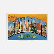 Detroit Michigan MI Rectangle Magnet