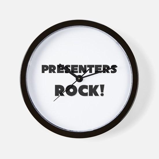 Presenters ROCK Wall Clock