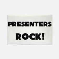 Presenters ROCK Rectangle Magnet