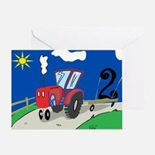2nd Birthday Tractor Greeting Card