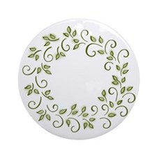 Leafy Wreath Ornament (Round)