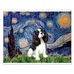 Starry Night Tri Cavalier Small Poster