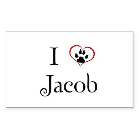 Love Jacob Twilight Rectangle Sticker 50 pk)