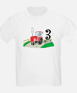 3rd Birthday Tractor T-Shirt