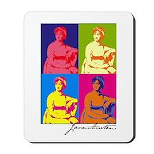 Jane Austen Pop Art Mousepad