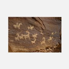 Ute Petroglyphs - Rectangle Magnet