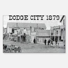 Dodge City 1879 Rectangle Decal