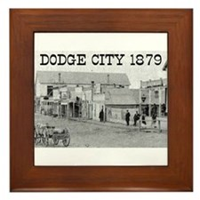 Dodge City 1879 Framed Tile