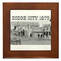 Dodge City 1879 Framed Tile