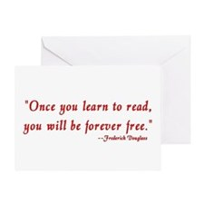 """""""Once you learn to read..."""" Douglass Greeting Card"""