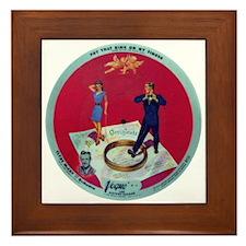 Vintage Records Framed Tile