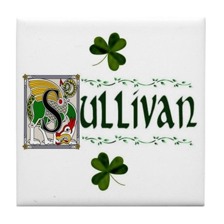 Sullivan Celtic Dragon Ceramic Tile