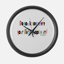 Do you know where your librar Large Wall Clock
