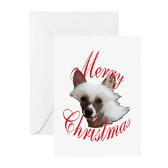 Christmas Chinese Crested Greeting Cards (Pk of 10