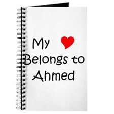 Cute My heart belongs ahmed Journal