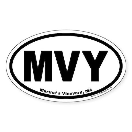 Martha's Vineyard MVY Euro Oval Sticker