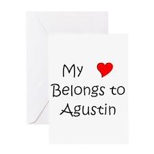 Cute My heart belongs agustin Greeting Card