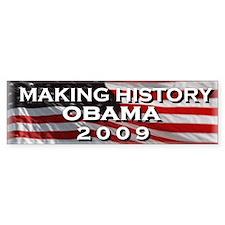 OBAMA HISTORY Bumper Car Sticker