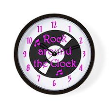 Rock Around the Clock Wall Clock