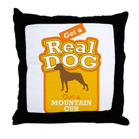 Mountain Cur Throw Pillow