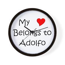 Cute My heart belongs adolfo Wall Clock