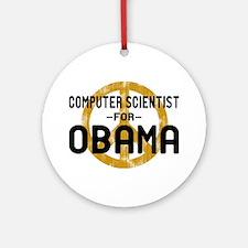 Computer Scientist for Obama Ornament (Round)