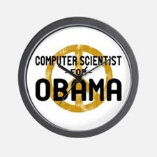 Computer Scientist for Obama Wall Clock