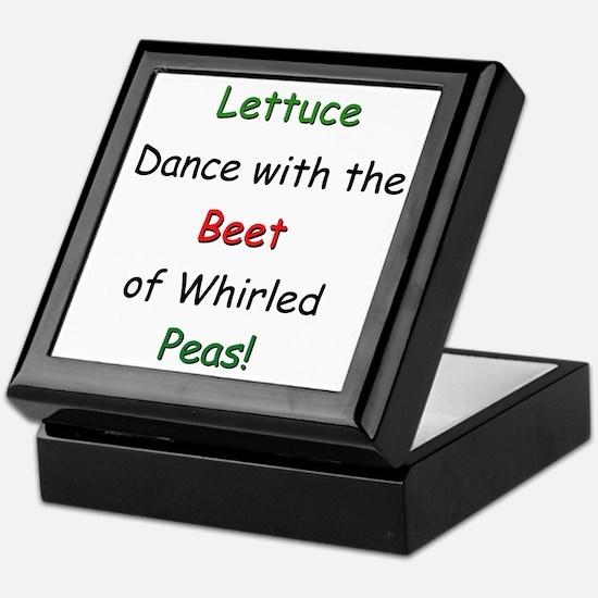 Lettuce dance & Peas Keepsake Box