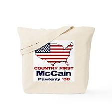 McCain Pawlenty Tote Bag