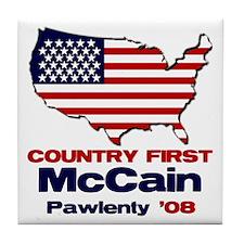 McCain Pawlenty Tile Coaster