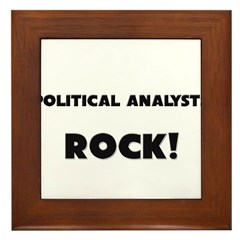 Political Analysts ROCK Framed Tile