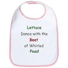 Lettuce dance & Peas Bib
