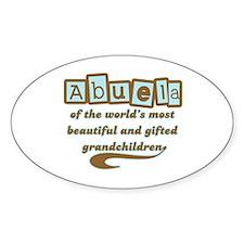 Abuela of Gifted Grandchildren Oval Bumper Stickers