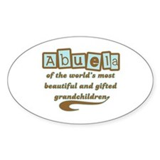 Abuela of Gifted Grandchildren Oval Decal