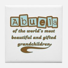 Abuela of Gifted Grandchildren Tile Coaster