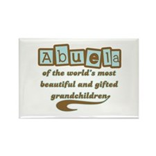 Abuela of Gifted Grandchildren Rectangle Magnet
