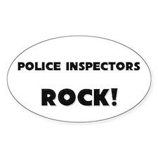 Police Inspectors ROCK Oval Decal