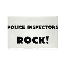 Police Inspectors ROCK Rectangle Magnet