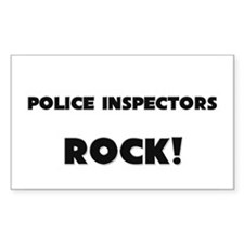 Police Inspectors ROCK Rectangle Decal