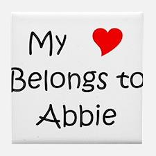 Funny Abbie Tile Coaster