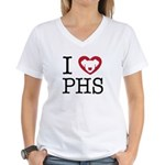 Putnam Humane Society Women's V-Neck T