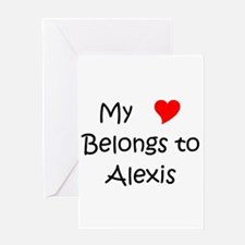 Cute Alexis Greeting Card
