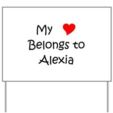 Unique Alexia Yard Sign