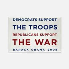 Democrats Support the Troops, Rectangle Magnet