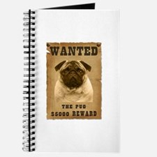 """""""Wanted"""" Pug Journal"""
