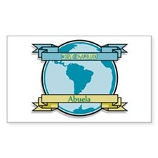 World Champion Abuela Rectangle Decal