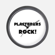 Plasterers ROCK Wall Clock