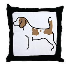 Beagle II Throw Pillow